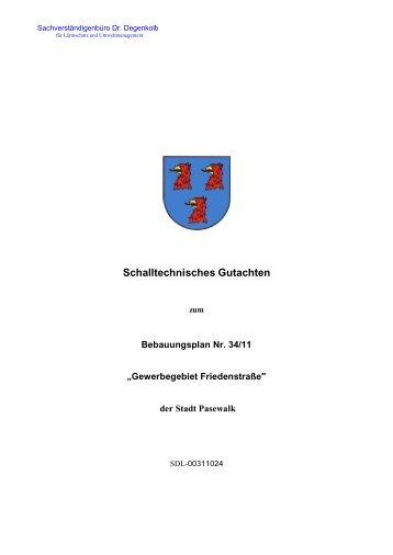 Schalltechnisches Gutachten - Stadt Pasewalk