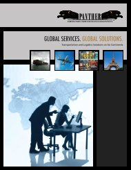 GLOBAL SERVICES. GLOBAL SOLUTIONS. - Panther Expedited ...