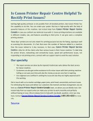 Is Canon Printer Repair Centre Helpful To Rectify Print Issues