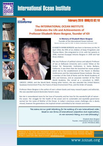 IOI Informa 02 2010 - International Ocean Institute