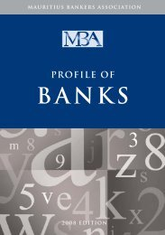 PROFILE OF BANKS - The Mauritius Bankers Association Limited