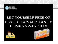 Yasmin Is Safe And Effective Birth Control Pills