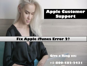 Fix Apple iTunes Error 2?
