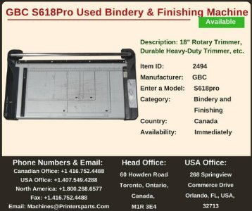 Buy Used GBC S618Pro Bindery and Finishing Machine