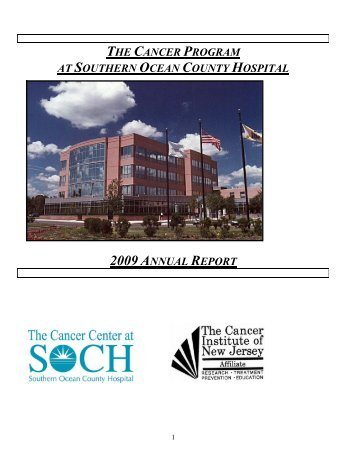 Table of Contents - Southern Ocean Medical Center