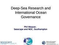 Deep-Sea Research and International Ocean Governance