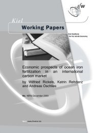 Economic prospects of ocean iron fertilization in an international ...
