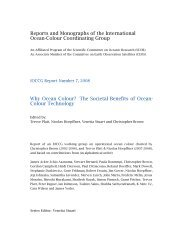 IOCCG Report 7 - International Ocean Colour Coordinating Group