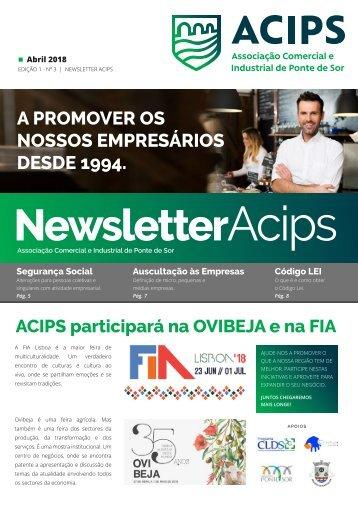 ACIPS NEWSLETTER // Abril 2018 - Edição 1 - Nº3