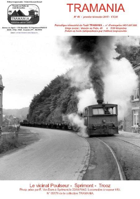 Revue TRAMANIA - tous les 3 mois. Tramways belges et étrangers. - tram - tramway