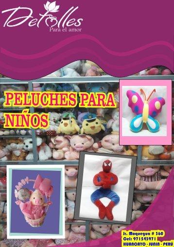 CATALOGO DE PELUCHES PARA NIÑOS