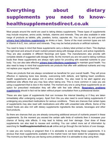 Everything about dietary supplements you need to know healthsupplementsdirect.co.uk