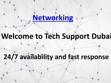 Get The Best Networking Services In Dubai - 0502053269