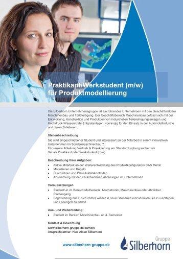 Ausschreibung Werkstudent CAS