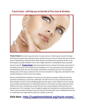 Tryvix Cream will Increases the Production of Collagen For You