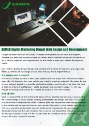 ASMEG Digital Marketing Drupal Web Design and Development
