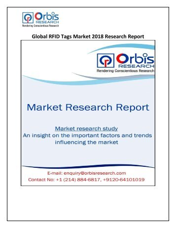 Global RFID Tags Market 2018 Research Report