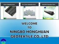 Get Geotextile Separation Fabric at Ningbo Honghuan Geotextile Co., Ltd