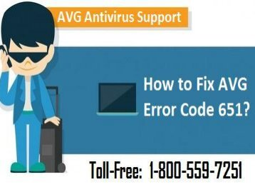 How to Fix AVG Error Code 651? 1-800-559-7251 Helpline Number