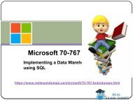 2018 Latest Microsoft 70-767 Exam Study Material - 70-767 Dumps Questions RealExamDumps