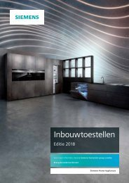 Siemens, inbouwtoestellen (2018)