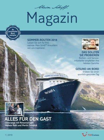 TUI Cruises Mein Schiff Magazin 01-2018
