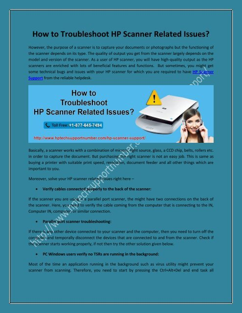 How to Troubleshoot HP Scanner Related Issues?