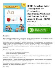 [PDF] Download Letter Tracing Book for Preschoolers: Handwriting Workbook and Practice for Kids Ages 3-5 Ebook   READ ONLINE