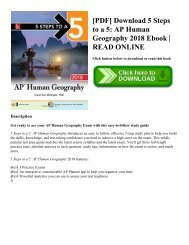 [PDF] Download 5 Steps to a 5: AP Human Geography 2018 Ebook   READ ONLINE