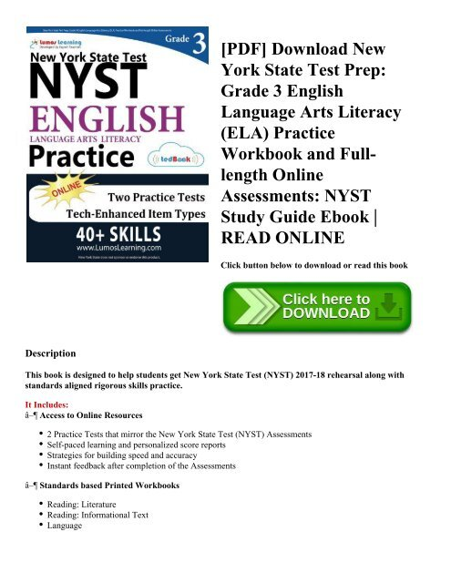PDF] Download New York State Test Prep: Grade 3 English Language