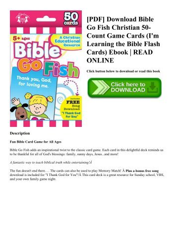 [PDF] Download Bible Go Fish Christian 50-Count Game Cards (I'm Learning the Bible Flash Cards) Ebook | READ ONLINE