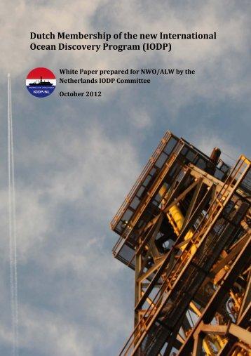 Dutch Membership of the new International Ocean ... - IODP-NL