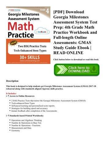 PDF] Download Georgia Milestones Assessment System Test Prep: 4th ...