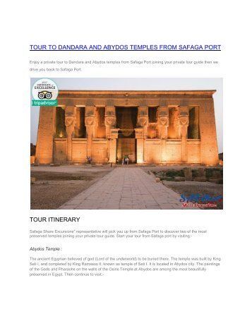 TOUR TO DANDARA AND ABYDOS TEMPLES FROM SAFAGA PORT (1)