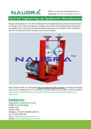 Electrical Engineering Lab Equipments Manufacturers