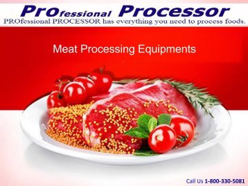 ProProcessor's Meat Processing Equipments at Best Prices