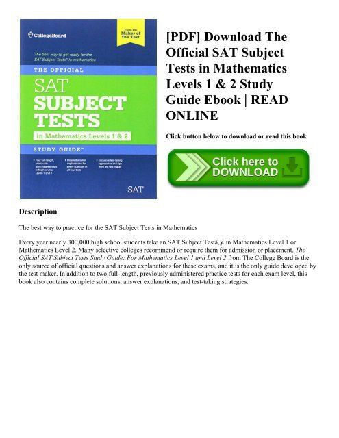 PDF] Download The Official SAT Subject Tests in Mathematics