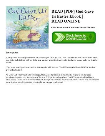 READ [PDF] God Gave Us Easter Ebook   READ ONLINE