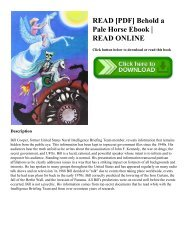READ [PDF] Behold a Pale Horse Ebook | READ ONLINE
