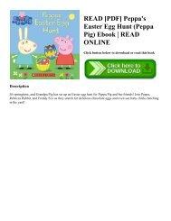 READ [PDF] Peppa's Easter Egg Hunt (Peppa Pig) Ebook READ ONLINE