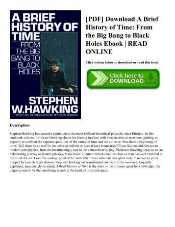 Big bets and black swans a presidential briefing book pdf download a brief history of time from the big bang to black fandeluxe Image collections