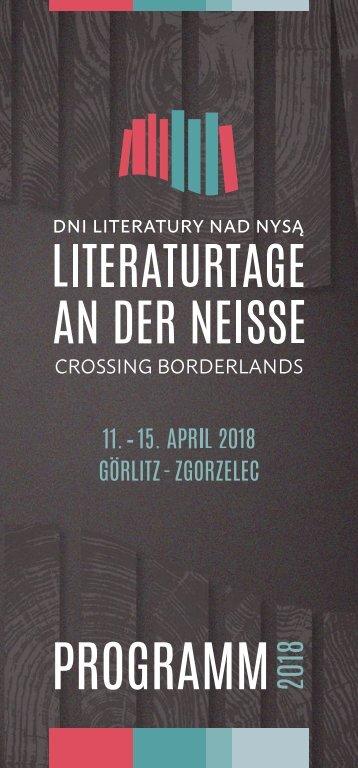 Literaturtage an der Neiße 2018 – Programm