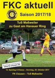 FKC Aktuell - 12. Spieltag - Saison 2017/2018