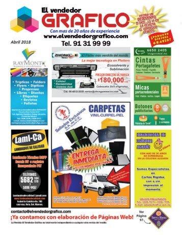 Revista El Vendedor Gráfico Abril 2018.