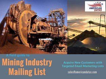 Mining Industry Mailing List | Mining Companies Database