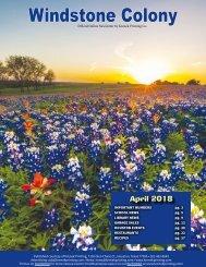 Windstone Colony April 2018