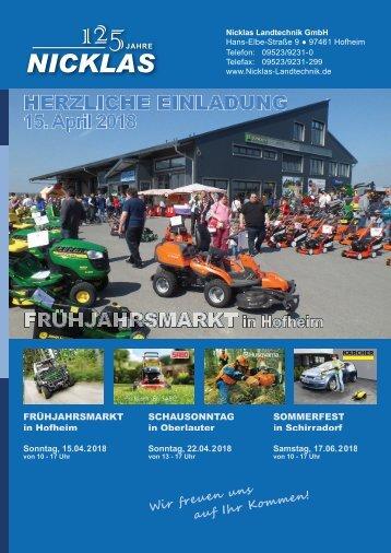 Nicklas Landtechnik Frühjahr 2018