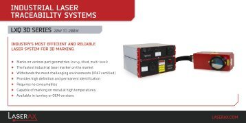 Technical Specification - Laserax LXQ 3D