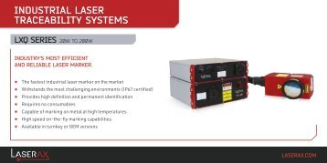 Technical Specification - Laserax LXQ