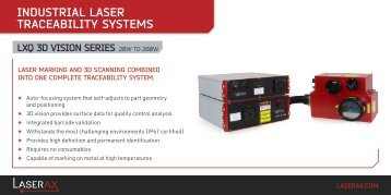 Technical Specification - Laserax LXQ 3D Vision